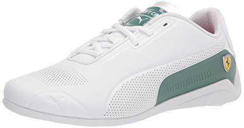 PUMA Men's Ferrari Drift Cat 8 Sneaker, White-Blue Spruce, Numeric_6