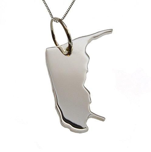 50cm Halskette + Amrum Anhänger in massiv 925 Silber