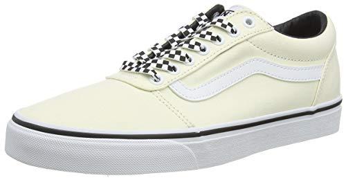 Vans Ward Canvas, Zapatillas para Hombre, Blanquecino Cuadros Clásico Blanco W9y, 49 EU