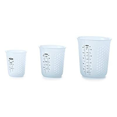 OXO Good Grips 3 Piece Squeeze & Pour Silicone Measuring Cup Set