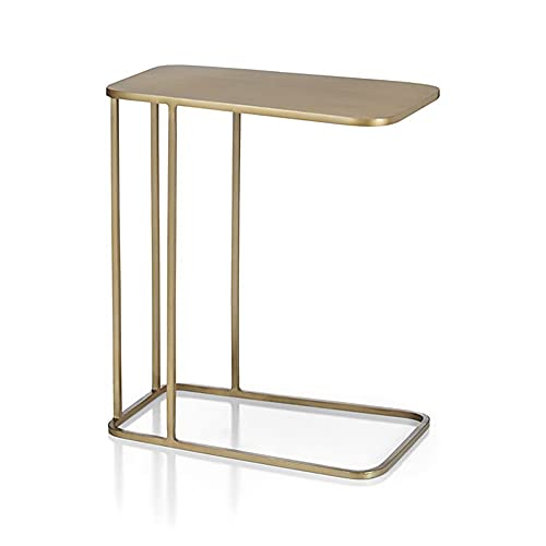 LUO Tavoli Coperchio da Tavolino A Forma di Metallo A Forma di C Snap Snaw da Snap, Diapositiva sotto Tavolo da Letto per Soggiorno Camera da Letto (Colore: Oro)