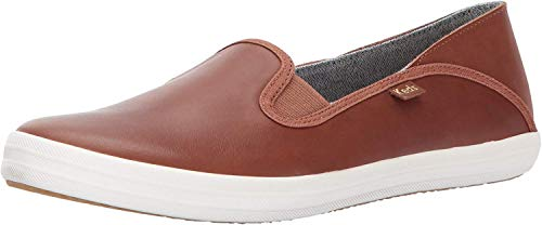 Keds Women's Crashback Leather Fashion Sneaker,Cognac Brown,9.5 M US