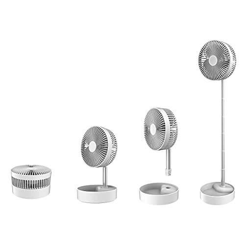 TIENDA EURASIA® Ventilador Portatil Silencioso - Ventilador de Pie y Sobremesa - 3 Velocidades - Sistema Plegable y Extensible - Bateria Recargable de 1800 mAh (F3 - De Pie)