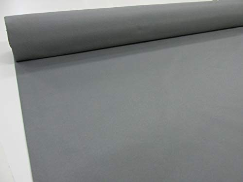 Confección Saymi Metraje 0,50 MTS Tela loneta Lisa nº 136 Gris Marengo, Doble Ancho 2,80 MTS.
