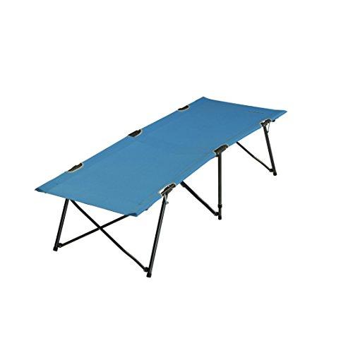 Fridani TBB XL Veldbed, blauw, reisbed, zonder dwarsbalken, comfortabel ligbed, logeerbed