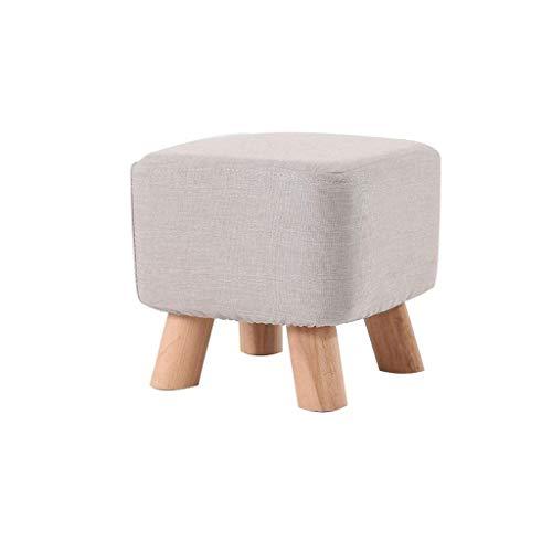 ALIPC Taburete de Almacenamiento Reposapiés The Couch Home Soporte de Madera Tapizado Sillón Puf Silla pequeña Taburete Cuadrado (Color: Gris)