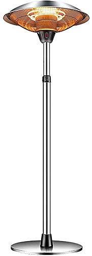 CCLLA Calentador de Patio al Aire Libre de 2500 W, Calentador de Infrarrojos eléctrico Colgante, 2 configuraciones de energía Calentador de Paraguas de calefacción silencioso para Exterior/Inter