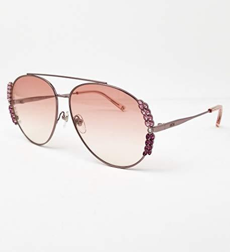 MCM MCM125S - Gafas de sol de metal, diseño de ramo rosa, unisex, para adulto, multicolor, estándar