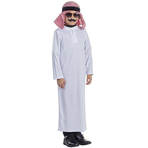 Dress Up America Costume de cheikh arabe pour enfants
