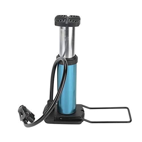 Man-hj Aleación de Aluminio de la Bici de la Bomba Mini Bicicletas Suelo Bomba de pie Activado la Bomba de Aire válvula de la Bicicleta MTB de la montaña de la Bomba de Bicicletas (Color : Blue)