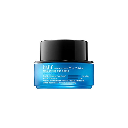 Belif Moisturizing Eye Bomb | Gentle Eye Cream for Dry Skin | Soothing, Clean Beauty