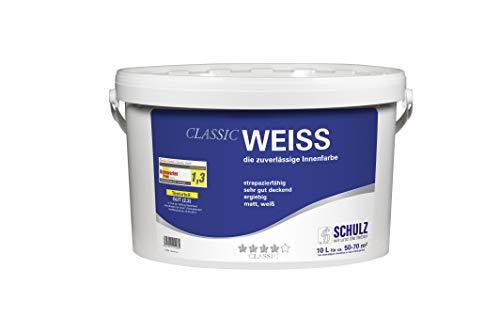 Schulz Classic Weiss, Innenfarbe, Deckkraft Klasse1, weiß, 10 L