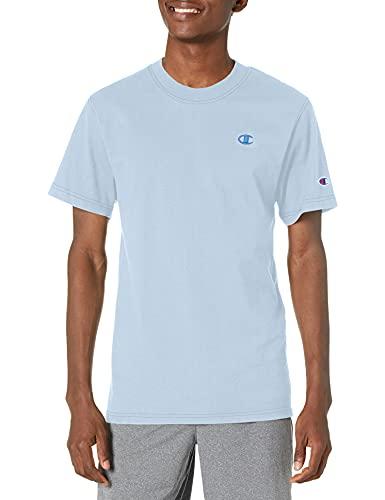 Champion Classic Contrast Stitch tee Camiseta, Papel maché Azul, XXL para Hombre