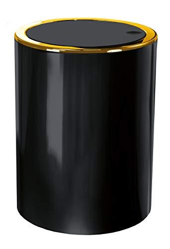 Kleine Wolke Golden Clap Kosmetikeimer, ABS, Schwarz, Eimer 5 L
