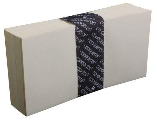 Conqueror Briefumschläge DL, cremefarben CX22ultra glatt (ohne Fenster), 50 Stück