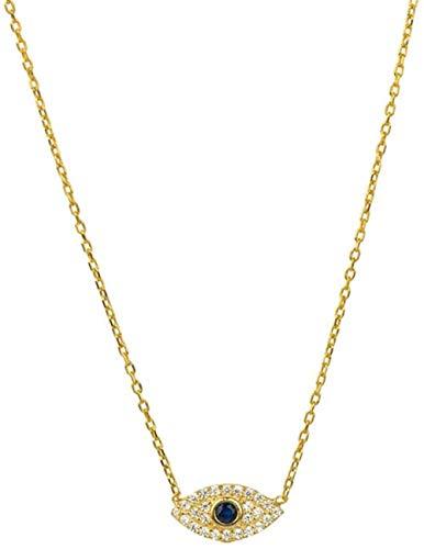 Collar Collar con Colgante De Diamantes De Ojo Malvado De Moda Coreana De Plata Esterlina para Mujeres Y Niñas Regalos para Fiestas Joyería Fina Collares