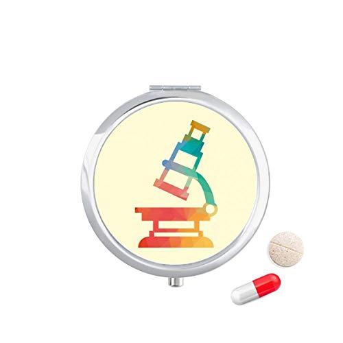 DIYthinker Cartoon Microscope Chemie Patroon Reizen Pocket Pill Case Medicine Drug Opbergdoos Dispenser Spiegel Gift