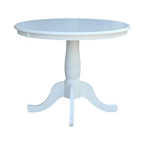 Whitewood Industries International Concepts 36' Round Top Pedestal Table, White