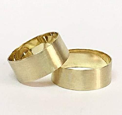 FloweRainboW Breite Trauringe 585 Matt Ringe Gold - Hochzeitsringe/Eheringe/Verlobungsringe - Damen/Männer