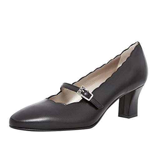 dirndl + bua Damen Dirndl-Schuhe Pumps Babett in Schwarz Trachten-Schuhe, Schuhgröße:38.5 EU, Farbe:Schwarz