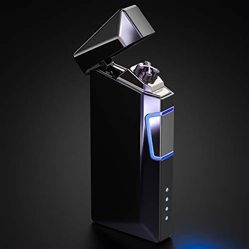 VVAY Plasma Feuerzeuge Dual Lichtbogen Elektro E-Feuerzeug Flammenlos USB Aufladbare Elektrisches Sturmfeuerzeug Arc Lighter