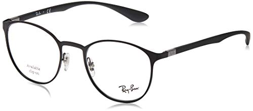 Ray-Ban 6355, Montature Unisex Adulto, Nero (Black), 47