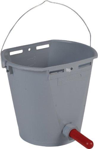 Kälbertränkeeimer komplett mit Ventil und Sauger, Fassungsvermögen 8 Liter, Fa. Horizont
