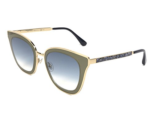 Jimmy Choo Lory/S FQ Gafas, BLUEE GOLD/GY GREY, 49 Mujeres