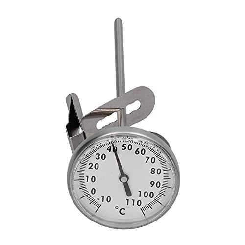 01 Termómetro para Alimentos, termómetro para Leche de Acero Inoxidable para Cocina