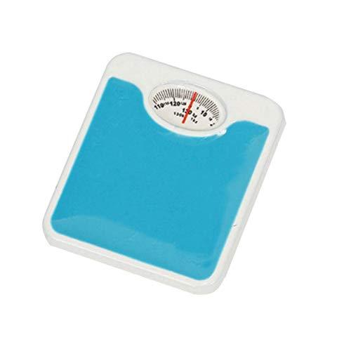 rycnet Escala de pesaje de resina para niños en miniatura, accesorios de muñeca, decoración de regalo, color azul