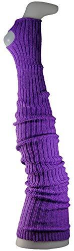 Damen Stulpen Formstabil Dunkellila 92cm 1 Paar Beinwärmer Extralang Oberschenkel / Overknee - Ballettstulpen Fersenloch