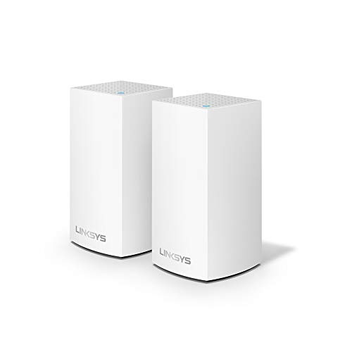 Linksys Velop Home Mesh WiFi System - WiFi Router/WiFi Extender for Whole-Home Mesh Network (2-pack, White)