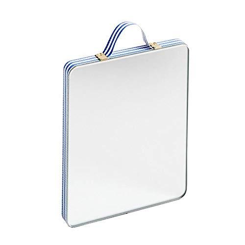 HAY Ruban Spiegel S, blau weiß gestreift BxHxT 10x12x1cm