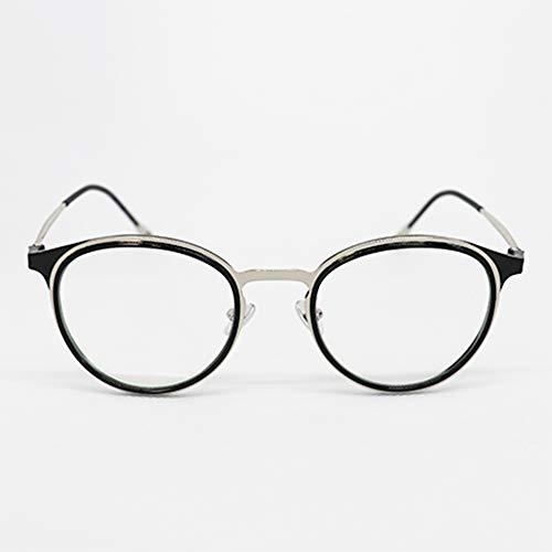 Grande argento nero Sista & Bro Eyewear- Occhiali riposo anti luce blu, unisex, lenti antiriflesso 100% UV, speciale schermo del computer, PC, gaming, filtro luce blu