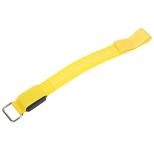 Kadimendium Pulsera de Supervivencia con LED, cómoda de Llevar, Luces de conducción LED de energía eólica, cambiadas libremente para Corredor para Atleta(Yellow)