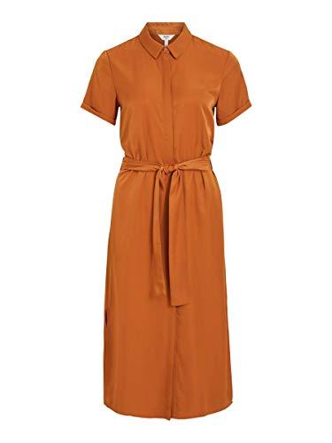 Object Damen Blusenkleid Kurzärmeliges 34Sugar Almond