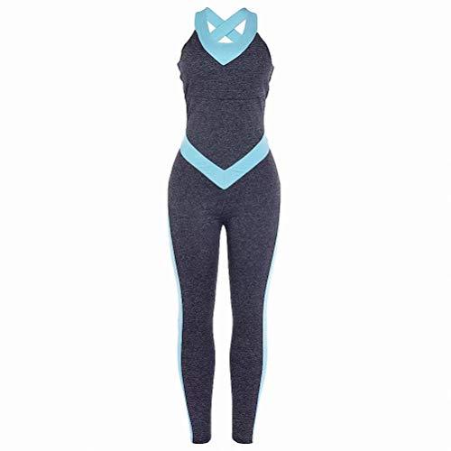 MILASIA Mujer Pantalones Deportivos Yoga Mono elástico Monos Medias Correr Gimnasio Fitness