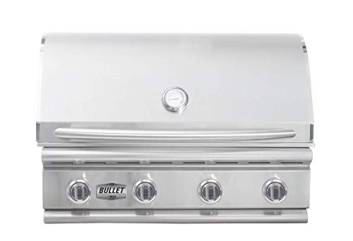 Bullet by Bull Outdoor Products 48109 Bronco Bullet by Bull 4 Burner Grill Natural Gas, Stainless Steel