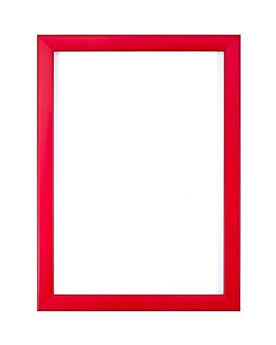 Rojo, a4 - Gama colores del arco iris Cuadro de foto / foto / póster - Con una tabla de respaldo de MDF - Con una hoja de plexiglás estireno de alta claridad.