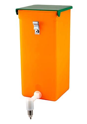 agrarking.de Nippeltränke orange 1 Liter mit Licht und Vitaminschutz - Edelstahl Halterung