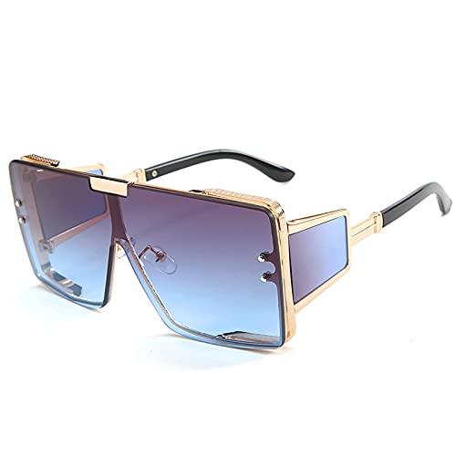 xzl Gafas de sol deportivas para hombres polarizadas con protección UV, gafas de sol polarizadas clásicas de aviador, marco brillante compuesto brillante, 100% protección UV, A