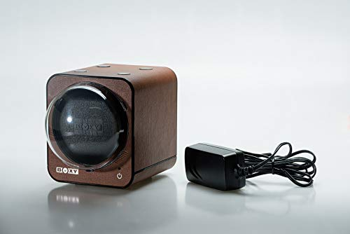 Boxy Fancy Brick Watch Winder PU-Leather (with Adapter) (Brown)
