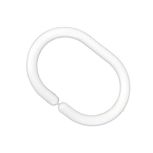 Eastery 12St Kunststoff Dusche Badewanne Vorhang Drapieren Schleife Vorhangringe Ring Haken Einfacher Stil Aufhänger Halter (Color : Colour, Size : Size)