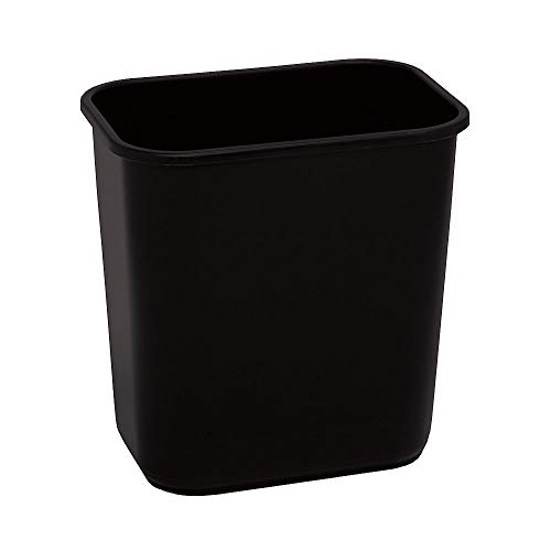 Highmark Office Depot Wastebasket, 3.25 Gallons, 12 1/4in.H x 8 1/2in.W x 12in.D, Black, WB0193