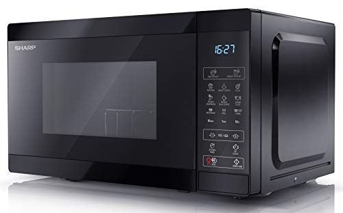 SHARP YC-MG02U-B 800W 20L Digital Touch Control Microwave with 1000W Grill 11 Power Levels & Defrost Function – Black