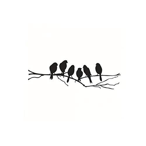 Pájaros En Árbol De La Pared del Vinilo Pared De La Etiqueta Engomada De Papel Creativo De La Pared del Arte Extraíble para Dormitorio, Salón, Habitación De Los Niños