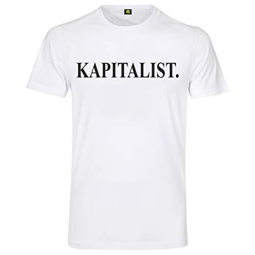 Kapitalist T-Shirt | Bank | Geld | Börse | Aktien | Ausbeuter | Unternehmer Weiß 3XL