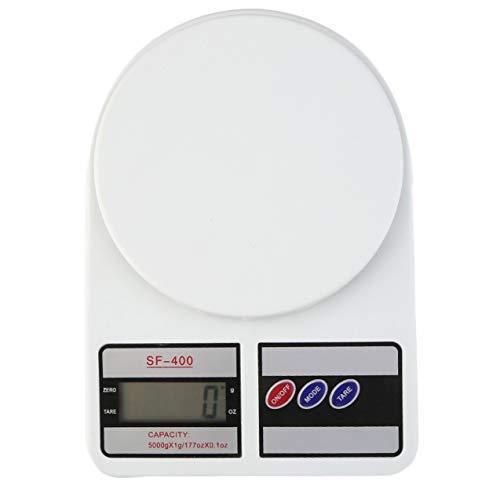 NewIncorrupt Báscula de cocina digital, balanza electrónica, pantalla LCD, función de tara para paquetería postal, alimentación, peso, dieta, funciona con pilas