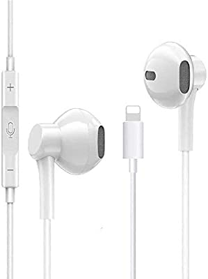 Epigram Headphones/Earphones Wired Earbuds Noise Isolating Sport Earphones with Built-in Microphone & Volume Control Compatible with iPhone 8/8 Plus/7/7Plus/X/XS/XR from Epigram