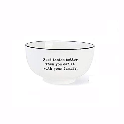 WEHOLY Abendessen Kinder Keramik Schüssel Salat Nudel Pudding Dessert Suppe Schüssel Haushalt Küche Dekorativ (Farbe: A)
